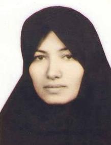 La mujer condenada supuestamente a la lapidación en Irán