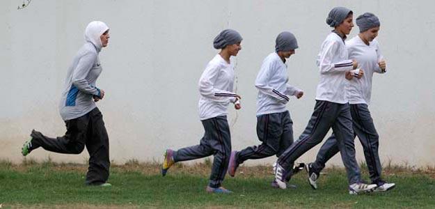 Mujeres árabes deportistas