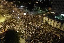 Multitud de 'indignados' protestas en Israel