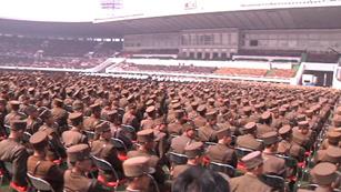 Ver vídeo  'Multitudinario acto en la capital de Corea del Norte para aclamar a Kim Jong-un'