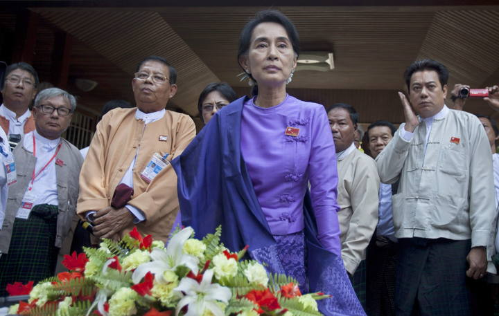 Myanmar Opposition NLD party reelects Aung San Suu Kyi