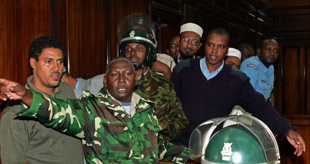 Nabhan Ali Saleh, en el juicio contra él por un atentado con bomba contra un hotel israelí en Kenia en 2002.