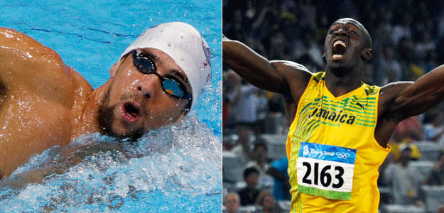 El nadador,Michael Phelps y el atleta Usain Bolt aspiran a aumentar su leyenda.