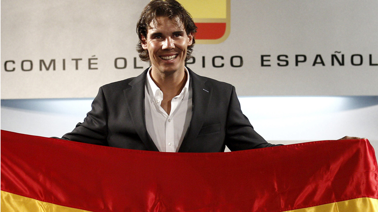 Nadal, la 'bandera' de Espa&ntilde;a