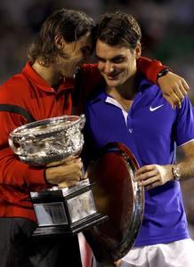Nadal y Federer mostraron una vez más su complicidad y respeto en la pista.