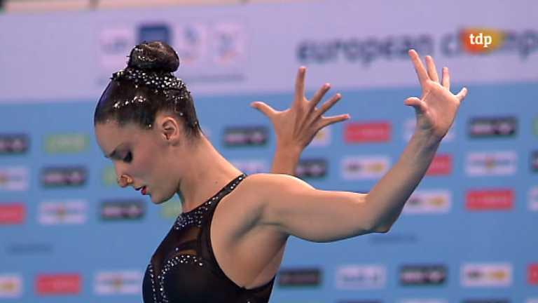 Natación sincronizada - Campeonato de Europa. Final solo libre