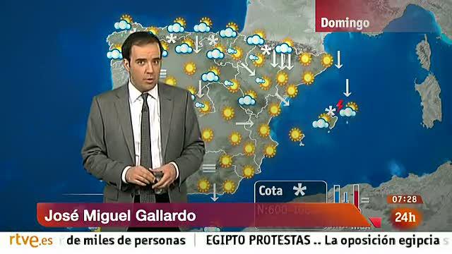 Nevadas en el norte y heladas en casi toda España