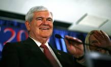 Newt Gingrich tras ganar las primarias de Carolina del Sur