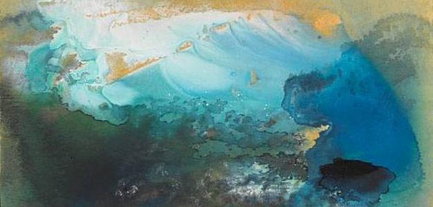 'Nieve temprana' de Zhang Daqian (1965)