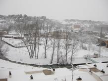 Imagen de Teruel nevado enviada por uno de los usuarios de RTVE.es