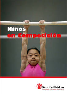 """Portada del informe """"Niños en competición"""" de Save de Children."""