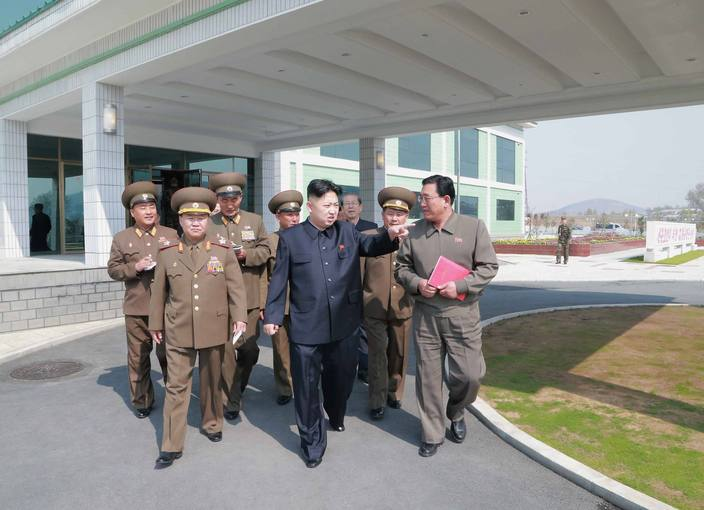 North Korean leader Kim Jong-un visits the Turf Institute of the Bioengineering Branch under the State Academy of Sciences in Pyongyang