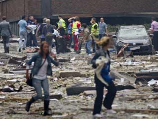 Ver vídeo  'Nuevas imágenes del atentado de Oslo de un videoaficionado'