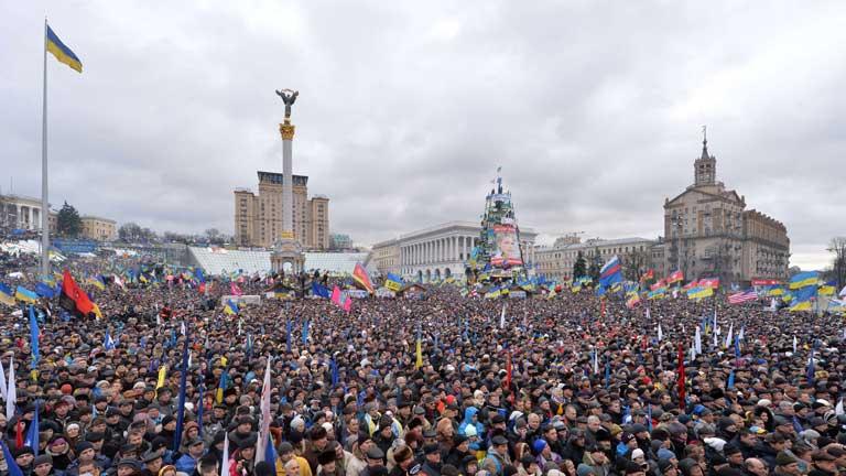 Nuevas protestas en Ucrania en protesta contra el Gobierno de Viktor Yanukóvich
