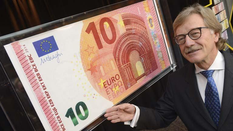 El Banco Central Europeo presenta el nuevo billete de 10 euros