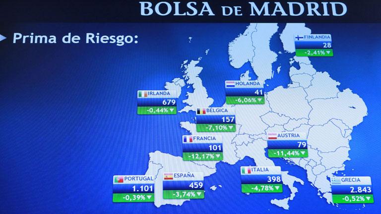 La prima de riesgo española marca su segundo máximo en un mes