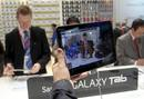 El nuevo tablet de Samsung, el Samsung Galaxy S II, presentado en la feria de m&oacute;viles de Barcelona.