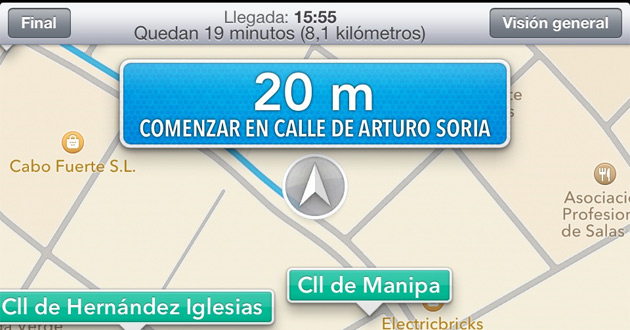 Los nuevos mapas incorporan la función de navegador GPS