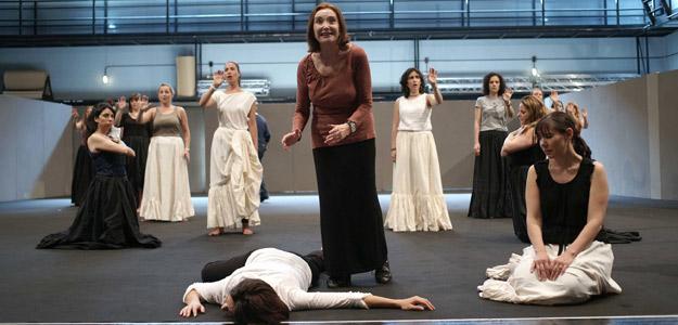 Nuria Espert durante los ensayos en Madrid de 'Ainadamar'