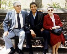 Obama con sus abuelos maternos
