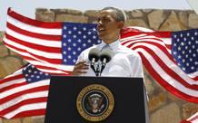 Obama durante su discurso en Texas