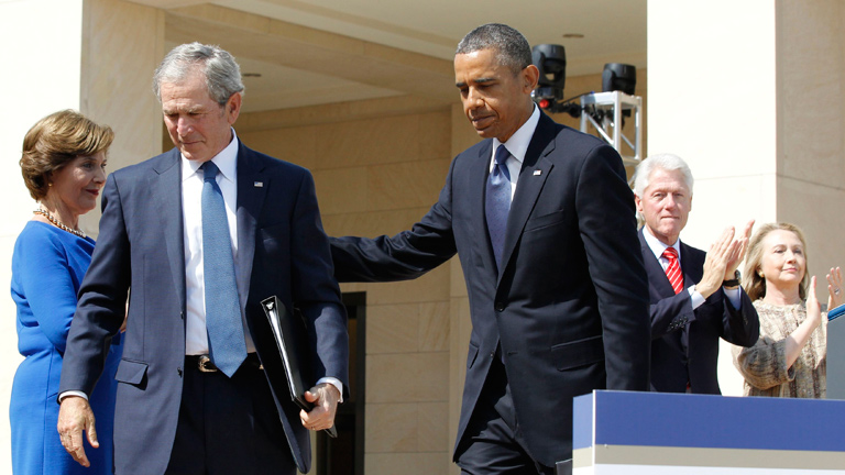 """Obama, en un encuentro con ex mandatarios: """"Hoy es un día especial para nuestra democracia"""""""