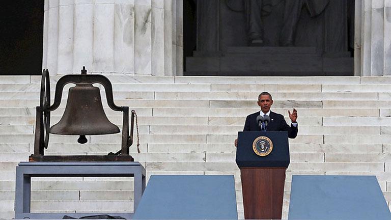 Obama recuerda a Luther King en el mismo escenario donde pronunció su discurso