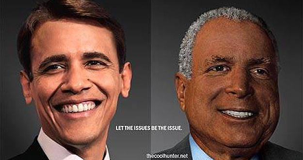 Obama y McCain, con las razas cambiadas.