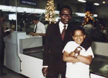 Obama con su padre