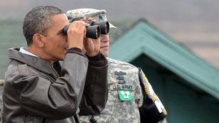Ver vídeo  'Obama visita la zona desmilitarizada coreana y saluda a las tropas de EE.UU.'