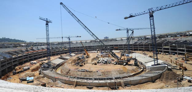 Obras del estadio Maracaná
