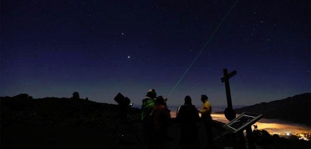 Una observacion astronómica en uno de los miradores de la isla canaria de La Palma