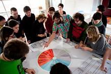 Olivier Schulbaum impartiendo un taller de financiación.