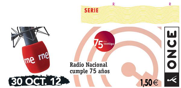 La ONCE dedica su cupón del martes 30 de octubre al 75º aniversario de RNE