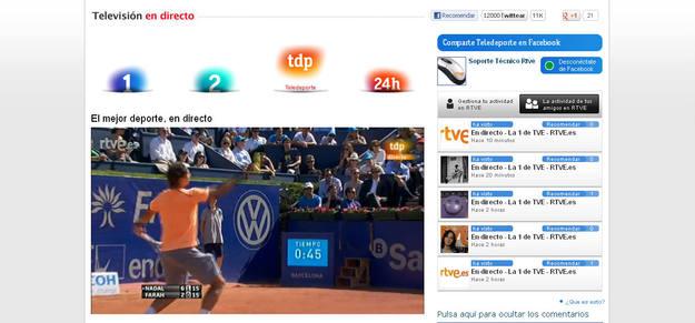 El sistema permite ver la actividad que sus amigos de la red social han realizado en la web de RTVE.es