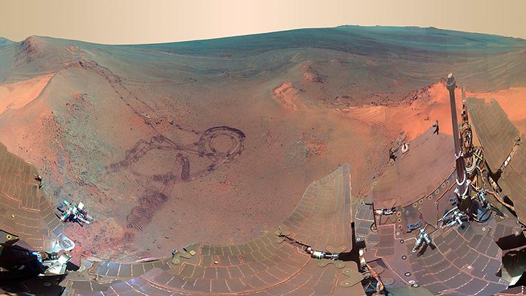 El robot Opportunity cumple diez años sobre la superficie de Marte