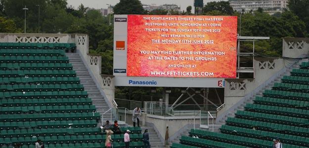 La organización de Roland Garros anuncia la suspensión de la final por videomarcador