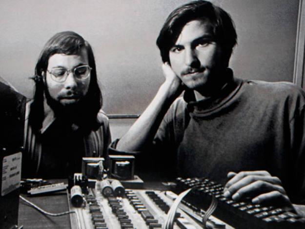 En los orígenes, con el socio Wozniak