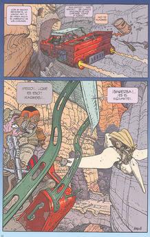 Página de 'Arzak el vigilante', de Moebius