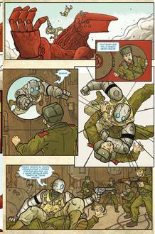 P&aacute;gina de 'Atomic robo 01', de Brian Clevinger y Scott Wegener