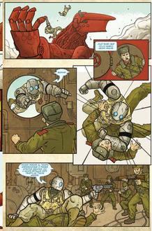 Página de 'Atomic robo 01', de Brian Clevinger y Scott Wegener