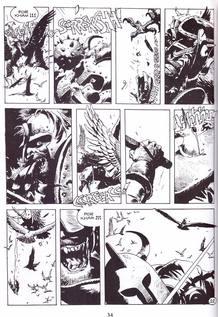 Página de 'Avrack', de Enrique Breccia y Ricardo Barreiro