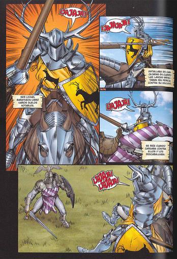 Página de 'El caballero errante', de Ben Avery, Mike S. Miller y George R.R. Martin