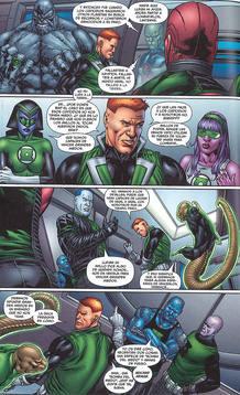 Página de 'Green Lantern Corps', de Peter J. Tomasi y Fernando Pasarín