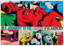 Página de 'La guerra Kree-Skrull' la mítica saga de Los vengadores de Roy Thomas y Neal Adams