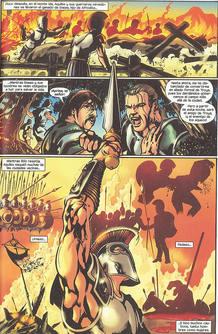 Página de 'La guerra de Troya', de Roy Thomas y Miguel Sepúlveda