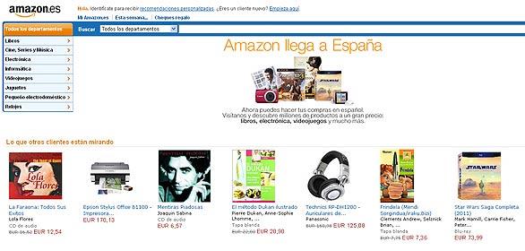 Página de inicio de Amazon España