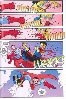 Página de 'Invencible', de Robert Kirkman y Cory Walker