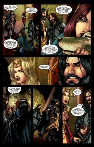 Página de 'Juego de tronos', de Martin, Abraham y Patterson
