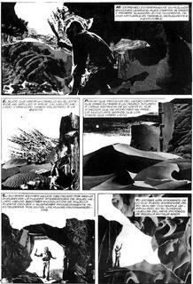 Página de 'Los mitos de Cthulhu', de H.P. Lovecraft y Alberto Breccia